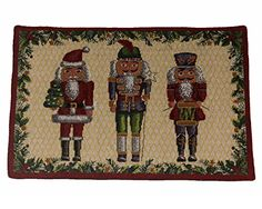 Home Traditions Christmas Tapestry Placemat Set 4pc- The Nutcrackers Home Traditions http://www.amazon.com/dp/B00OO3JEZQ/ref=cm_sw_r_pi_dp_tnerub17BCV17
