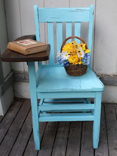 ~ sweet nothings ~: Antiqued Old School Chair $80 -SOLD This is by far the best furniture piece that I refinished :)