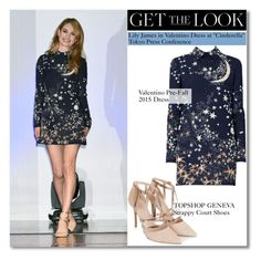 """""""Get The Look : Lily James"""" by igedesubawa ❤ liked on Polyvore featuring Topshop"""