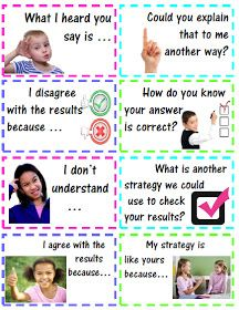 Accountable Math Talk Stems for Students with Questions & Statements - These stems will assist your students in conversation - explaining, justifying, and critiquing their own work, as well as, other students' work. Maths Guidés, Math Classroom, Kindergarten Math, Teaching Math, Classroom Ideas, Teaching Ideas, Preschool, Math Strategies, Math Resources