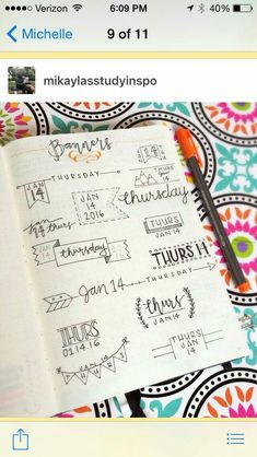 Want to learn how to bullet journal? We have a huge archive of bullet journal content and we continue to update weekly! Bullet Journal Inspo, Bullet Journal Fonts, Bullet Journal Banners, Planner Bullet Journal, Bullet Journals, Art Journals, Journal Layout, Journal Pages, Photo Journal