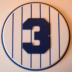 Retired Number 3 Plaque Yankees Babe Ruth - large