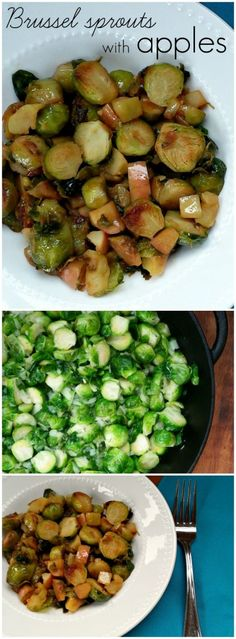 Sauteed Brussel Sprouts with Apples
