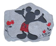 I came across this Disney discovery and I think it will cater to the more classic Disney lover. Today's Disney discovery is the Mickey Mouse stepping stone. Disney Dream, Disney Style, Disney Love, Disney Home Decor, Disney Crafts, Disney Decorations, Mickey Minnie Mouse, Disney Mickey, Disney Garden