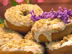 Sweet Potato Doughnuts with Maple Icing from FoodNetwork.com