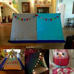 Cabanas para festa do pijama  www.ateliecolorir.com.br