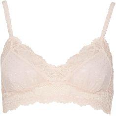 Jenna Lace Bralette ($22) ❤ liked on Polyvore featuring intimates, bras, tops, bralette bras, lace bralette bra, lace bra, lacy bras and pink lace bra