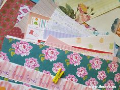 I love pretty papers in the mail! /iHanna Papers sent to me, stuff in a private swap #swapping #happymail