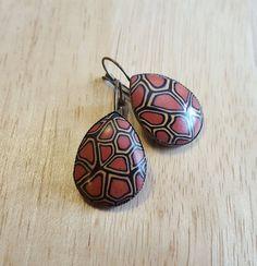 Brown abstract earrings, light earrings, unique earrings, elegant earrings, Valentines gift, abstract earrings, Easter gift, birthday gift,