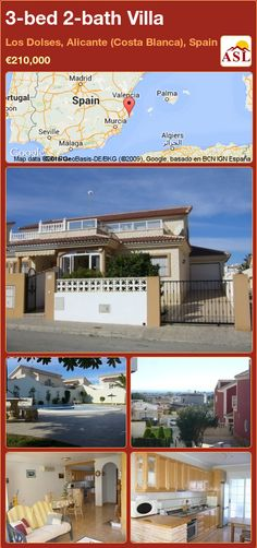 3-bed 2-bath Villa in Los Dolses, Alicante (Costa Blanca), Spain ►€210,000 #PropertyForSaleInSpain