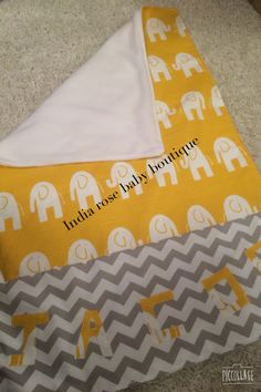Personalised funky elephant snuggle blanker made for a special little customer