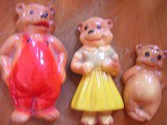 Vintage Chalkware 3 Bears Goldilocks And The Three Bears, 3 Bears, Chalk It Up, Christmas Ornaments, Holiday Decor, Vintage, Fantasy, Christmas Jewelry, Vintage Comics