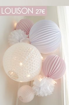 Package of lanterns Louison Underneath The Lampion deco bed room Baby Bedroom, Nursery Room, Girl Nursery, Girl Room, Girls Bedroom, Nursery Decor, Deco Rose, Baby Decor, Feng Shui