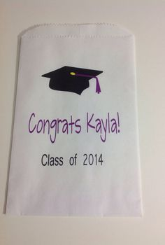 Personalized Graduation Candy Buffet Bags by SweetLoveCandy, $25.00