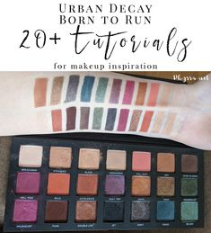 Urban Decay Born to Run Palette Tutorials and Looks for Inspiration - Over 25 of the best looks with the new UD Born to Run palette.