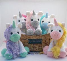 Amigurumi: White and lilac unicorn, Crochet Pony, Crochet Horse, Crochet Unicorn, Crochet Amigurumi, Cute Crochet, Amigurumi Doll, Crochet Animals, Crochet Dolls, Knit Crochet