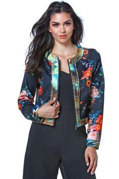 Floral Scuba Jacket