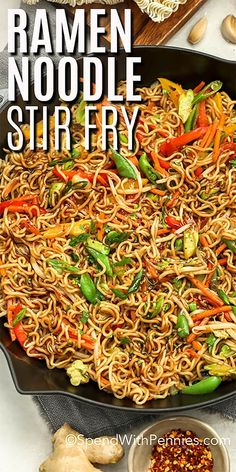 Easy Ramen Stir fry - Spend With Pennies - A ramen noodle stir fry is a great weeknight meal. Ready in 20 mins, this easy recipe is made with - Easy Ramen Stir fry - Spend With Pennies - A ramen noodle stir fry is a great weeknight meal. Ready in 20 Quick Weeknight Meals, Easy Meals, Stir Fry Recipes, Cooking Recipes, Recipe For Stir Fry, Easy Stirfry Recipes, Beef Lo Mein Recipe Easy, Shrimp Lo Mein Recipe, Wok Recipes