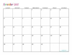 2017 calendar template for word