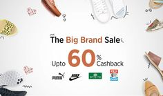 #paytm The Big Brand #sale upto 60% cashback on all products
