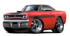 Classic Car 1970 Plymouth GTX Wall Decal, Automobile Wall Murals, Plymouth Wall Decal, Vintage Car D Weird Cars, Cool Cars, Crazy Cars, Chevrolet Bel Air, Dodge Charger, Rolls Royce, Muscle Cars, Ford Modelo T, 1970 Plymouth Gtx