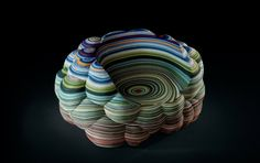 Layers Cloud Chair by Richard Hutten for Kvadrat Richard Hutten has designed the Layers Cloud Chair made from layers of fabric cut using a CNC machine. Layers Cloud Chair, by Richard Hutten, for Kvadrat Milan Furniture, Unique Furniture, Furniture Design, Furniture Ideas, Green Furniture, Furniture Movers, Colorful Chairs, Cool Chairs, Bar Chairs