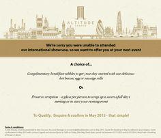 Altitude London e-invite design