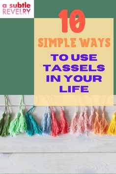 Sharing you simple ways to use tassels in your life. Tassels are a popular item and it's no wonder why. They are simple and can be made from a variety of materials that glitter or sway. We love these sweet embellishments because they turn any item into the life of the party. Check this pin for amazing tassel ideas! #tassleideas #tassle #tasselsDIY Design Your Home, House Design, You Are Awesome, Amazing, Pom Pom Garland, Tassel Keychain, Cute Pumpkin, Own Home, Simple Way