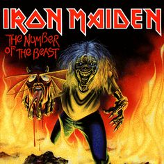 The Number of the Beast is heavy metal band Iron Maiden's seventh single and the second from their 1982 album of the same name. Iron Maiden Album Covers, Iron Maiden Cover, Iron Maiden Albums, System Of A Down, Rock And Roll, Vic Rattlehead, Iron Maiden Posters, Run To The Hills, Eddie The Head