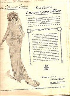 noiva - Catalogo Loja Armazem Au Palais Royal coleção 1910 e 1911