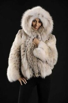 Brand new Lynx bomber jacket from Canadian Lynx skins with cities (legal) Fox Fur Coat, Fur Coats, Lynx, Fur Jacket, Bomber Jacket, Natural Red, Fur Fashion, Cool Pictures, Faux Fur