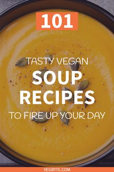 Looking for specific vegan soup recipes can be like navigating a jungle. Save some time and check out this epic collection of 101 recipes! Best Healthy Soup Recipe, Easy Vegan Soup, Vegan Vegetarian, Vegetarian Recipes, Delicious Recipes, Vegan Meals, Vegan Lunches, Healthy Recipes, Vegan Foods