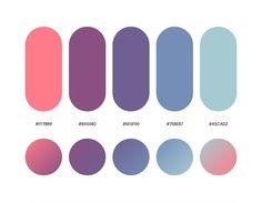 color psychology and color therapy Flat Color Palette, Purple Color Palettes, Blue Color Schemes, Colour Pallete, Purple Palette, Ui Color, Gradient Color, Paleta De Color Hexadecimal, Color Psychology