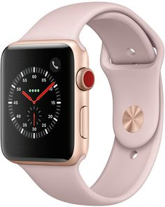 Apple Watch Series 3 (Gps + Cellular), 42mm Gold Aluminum Case with Pink Sand Sport Band #affiliate