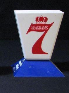 """Vintage """"V"""" on Base Seagram's 7 Seven Crown Swizzle / Stir Stick Rod Holder… Sold $16.89"""