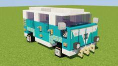 VW Bus Minecraft Project - Minecraft World Minecraft Pixel, Skins Minecraft, Cute Minecraft Houses, Minecraft Room, Minecraft Plans, Amazing Minecraft, Minecraft Tutorial, Minecraft Blueprints, Minecraft Crafts
