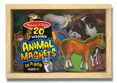 Melissa & Doug 20 Animal Magnets in a Box - big and chunky, a perfect way to keep toddlers busy while you are in the kitchen