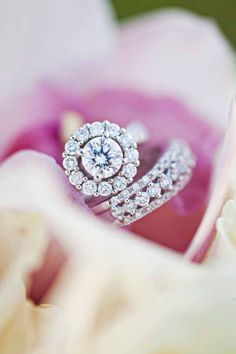 Engagement Rings & Wedding Rings : we  this!  moncheribridals.com #weddingrings #engagementrings