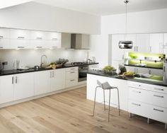 mid century modern white kitchen - Google Search