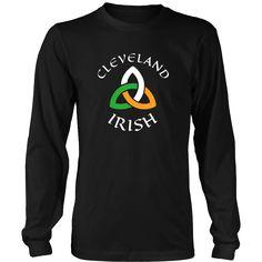 "Saint Patrick's Day - "" Cleveland Irish Parade "" - custom made  funny apparel."