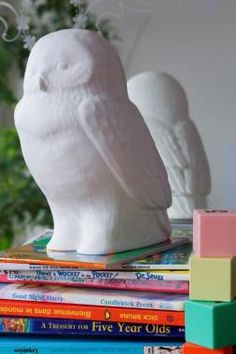 Sfeerlamp 'Akira The Owl' (wit)