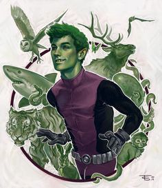 foosh-art:Beast Boy~Teen Titans -Finally done!Prints Available!