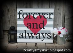 diy home decor crafts | DIY with tutorial Forever and Always ~ DIY Home Decor ... | Craft Ide ...