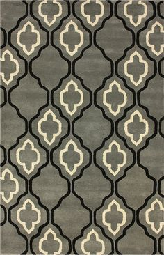 nuLOOM Marbella Dawn Moroccan Trellis Titanium Rug. Shake the front rug! so cute!