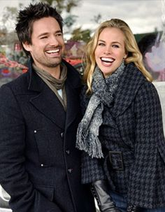 Henry Winkler, Brooke Burns, Connor Christopher Levins, and Warren Christie in The Most Wonderful Time of the Year Best Christmas Movies, Hallmark Christmas Movies, Hallmark Movies, Holiday Movies, Old Tv Shows, Movies And Tv Shows, Warren Christie, Brooke Burns, Movie Couples