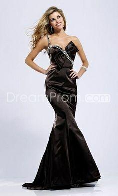 Elegant And Beautiful Prom/ Evening Dresses Cheap Mermaid Long Deep Brown--Top Saling