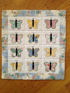 Small Quilts and Doll Quilts: Butterflies Flutter By in June