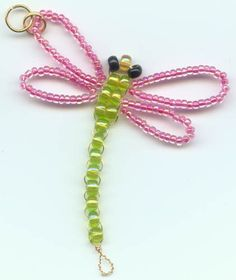 Dragonfly Suncatcher w/Pink Wings & Lt. Green Body