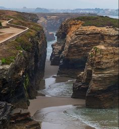 The Most Exotic Beaches In The World – Beach of the Cathedrals -Playa de las Catedrales- – Ribadeo- Spain – Travel Beaches In The World, Places Around The World, Travel Around The World, Phuket, Places To Travel, Places To See, Travel Destinations, Exotic Beaches, Voyage Europe
