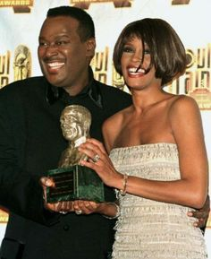 Two of the greatest to ever do it. Luther Vandross Whitney Houston R. Music Icon, Soul Music, My Music, Whitney Houston, Beverly Hills, Luther Vandross, Hollywood, Before Us, Motown